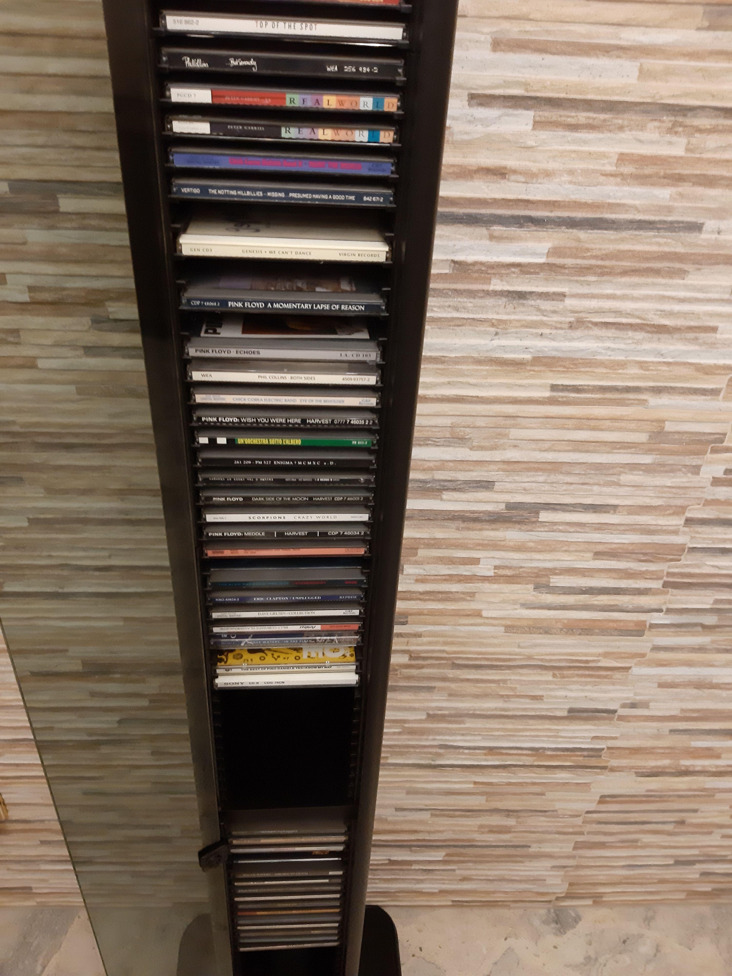 COLONNA PORTA CD IN LEGNO NERO CON ANTA IN VETRO - #6332607 ...