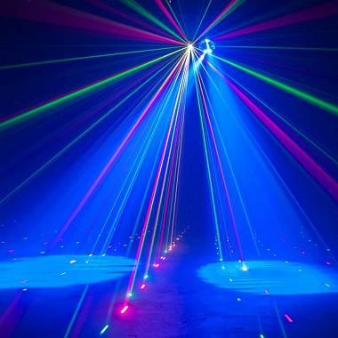 Mini Proiettore Effetto Luci Laser Per Disco Discoteca Dj.American Dj Stinger Gobo Effetto Luci 3 In 1 Effetto Gobo Strobo