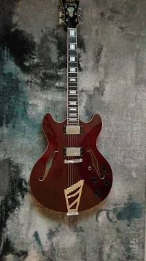 D'Angelico Guitars Premier DC wine red
