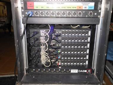 Yamaha sistema completo di trasporto digitale  AD8HR ETHERSOUND  48in-16 out Rio