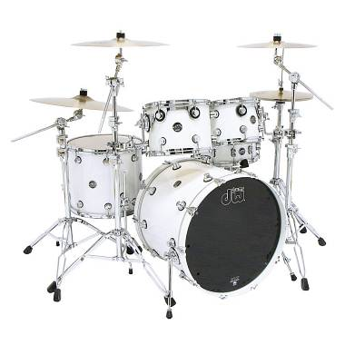 "DW Performance made in USA : 24,10,12,16 Laquer ""Pearlescent White"""