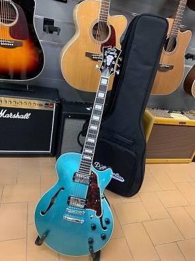 D'Angelico Guitars Premier SS Ocean Turquoise + Bag Originale