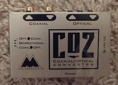 M Audio CO2 interfaccia convertitore S/PDIF coassiale ottico e viceversa SPDIF