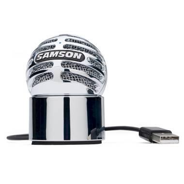 SAMSON - METEORITE MIC - Microfono a Condensatore USB - Chrome spedizione inclusa