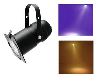 LED PAR FRESNEL RGB 30W nero Potente FARO spot tecnologia LED COB