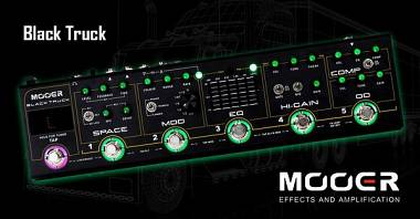 MOOER BLACK TRUCK Compressor, Overdrive, Distortion, EQ, modulation, Delay/Rever