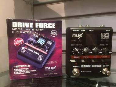 NUX Drive Force Overdrive-Distortion ECCELLENTI CONDIZIONI