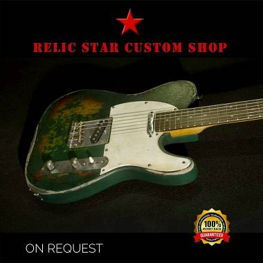 RELIC STAR CUSTOM SHOP t-'50 alnico 5 Telecaster Green on Sunburst