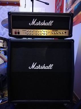 Marshall JCM 2000 tsl 100 cassa 4x12 footswitch/scambio con Line 6 helix