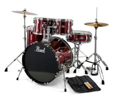 PEARL RS525SC/C91 BATTERIA ACUSTICA COMPLETA SERIE ROADSHOW COLORE WINE RED