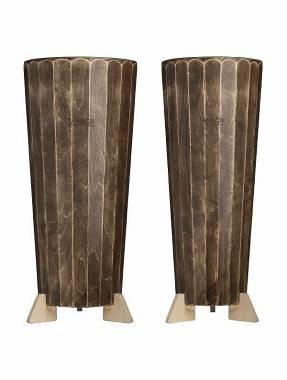 Coppia Conga Cajon Artigianale Conga e Tumba modello Noce Scuro