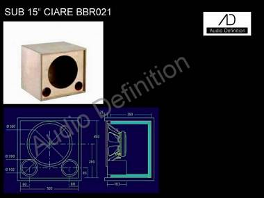 "AUDIO DEFINITION P.A. SUB CIARE 15"" BBR021"