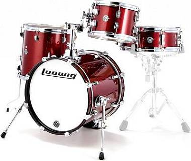 "Ludwig Batteria LC179X025 BREAKBEATS BY QUESTLOVE ""Wine Red"" con Fodere"