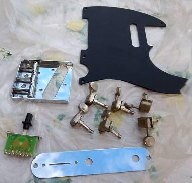 Telecaster Tele battipenna, meccaniche, ponte, piastra, selettore - non fender