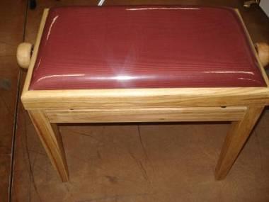 Panchetta per pianoforte in ciliegio cuscino in velluto rosso