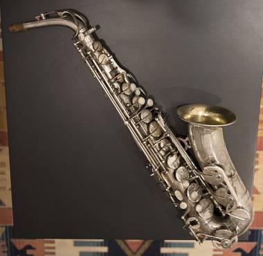 sax alto Rampone & Cazzani Corpo argentato, campana oro