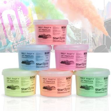 KIT 12 BOX DA 2KG HOLI PARTY POWDER POLVERE POLVERI COLORATE PER FESTE