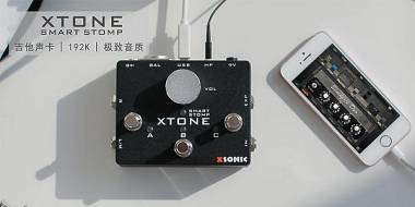 Xsonic Xtone Smart Stomp Audio Interface PEDALE PER CHITARRA E BASSO
