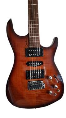 Godin Freeway sa  Piezo RST Flame + Roland GR-55 Guitar Synthesizer