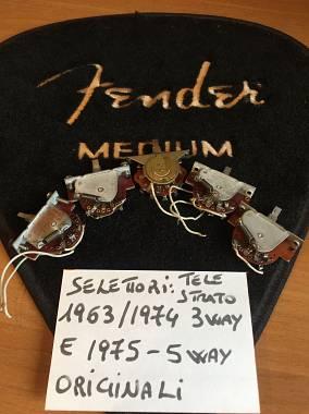 selettori 3 vie stratocaster-telecaster anni 60/70 originali