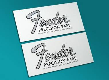 2 DECALCOMANIA FENDER PRECISION 1966-68 DECAL WATERSLIDE