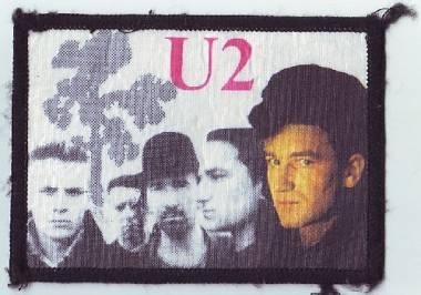 U2 patch ( toppe di stoffa ) set di 5 degli anni 80