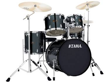 Tama ip58h6 hairline black batteria acustica 5 pezzi con hardware e