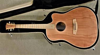 Cole Clark Guitars CFL2EC-RDBL - Fat Lady 2 - Redwood Top