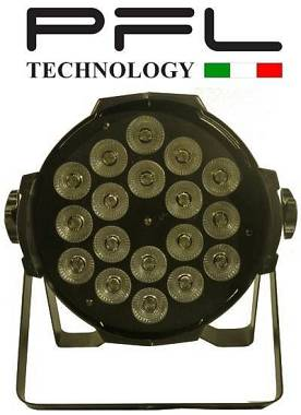 PAR LED 18 X 15 W FULL COLOR RGBW-A-UV  6 IN 1  PFL TECHNOLOGY OFFERTA NUOVO