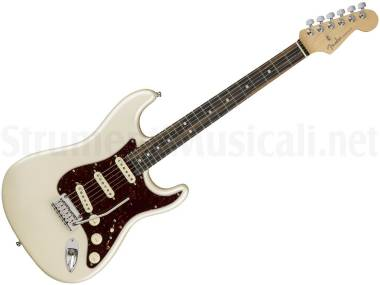 Fender American Elite Stratocaster Eb Olympic Pearl - Chitarra Elettrica Bianco Perla