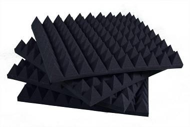 Pannello fonoassorbente Piramidale D30 Nero Antracite - Correzione Acustica