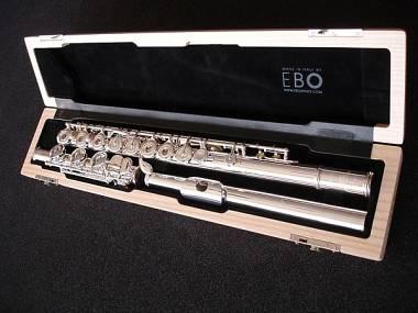 astuccio in legno per flauto in SI