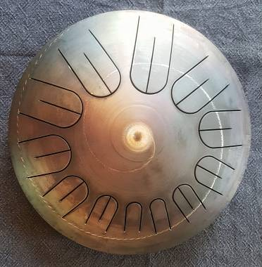 "Handpan tamburo armonico rammerdrum 15"" a 12 note"