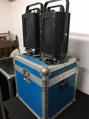 n° 2 Faro PC 500 Watt  perfettamente funzionante con lampade, bandiere e flight