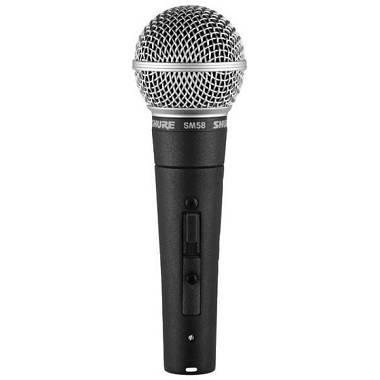 Shure SM58S Microfono per voce dinamico cardioide con interruttore