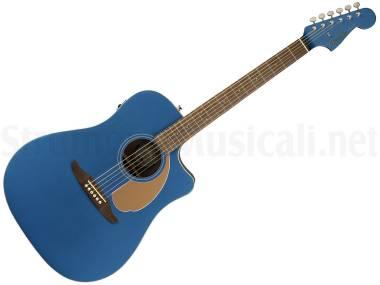 Fender Redondo Player Wn Belmont Blue - Chitarra Acustica Elettrificata Blu