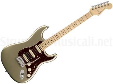 Fender American Elite Stratocaster Hss Shawbucker Mn Champagne - Chitarra Elettrica Champagne