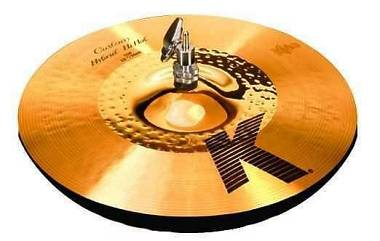"Zildjian Hi Hat Charleston K Custom Hybrid 13"" Nuovo imballato. Spedito Gratis"