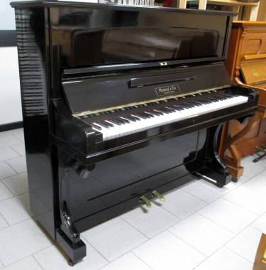 Rordorf & C. pianoforte verticale d'epoca - nero gommalacca