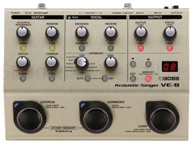 Boss Ve-8 Acoustic Singer - Processore Di Effetti Per Voce E Chitarra Acustica