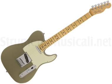 Fender American Elite Telecaster Mn Champagne - Chitarra Elettrica Champagne