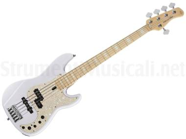 Marcus Miller P7 Swamp Ash 5 White Blonde - Basso Elettrico 5 Corde Bianco