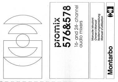 Montarbo manuale istruzioni mixer Promix