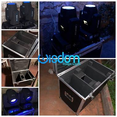 Coppia sharpy Beam 230w 7r  display touch flight cases lampada Osram prisma 3d