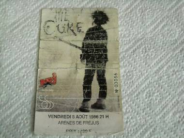 Ticket THE CURE 8.08.1986 Arenes de Frejus