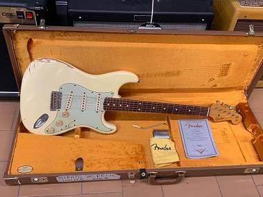Fender Stratocaster Custom Shop Relic '60 anno 2008 White ECCELLENTI CONDIZIONI