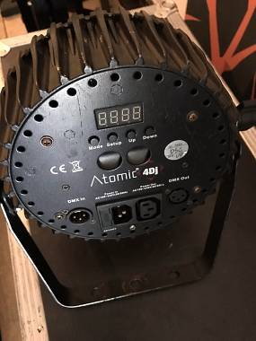 Atomic4dj  LUCI PAR ATOMIC4DJ SLIM HQ9 RGBWA 9X10W LED