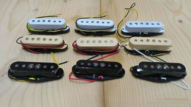 "single coil Stratocaster avvolti a mano  / Hot rails / Little ""59"
