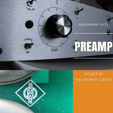 Neumann  v472  preamplificatore 2 canali vintage preamp