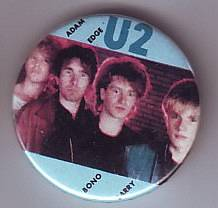 U2 - set di 4 badge \ spille vintage anni 80
